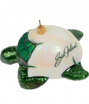 Sea Island Turtle Ornament.