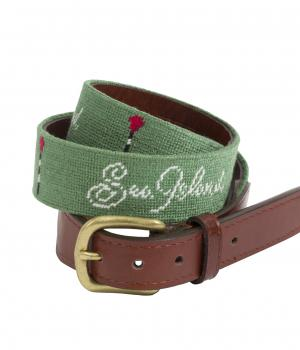 Sea Island Custom Basket Logo Belt.